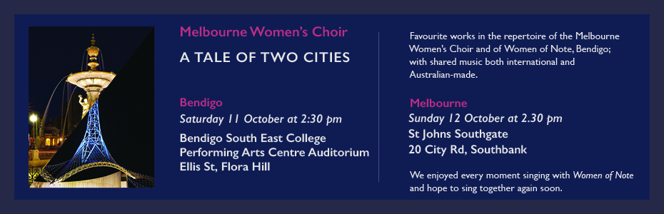 melbourne women's choir a tale of two cities